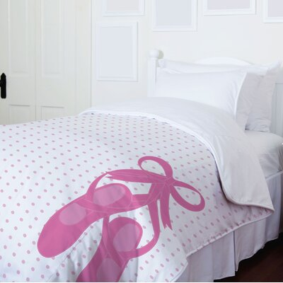 Bella Ballet Slippers Duvet Cover Size: Full / Queen