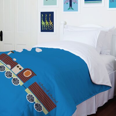 Charlie Train Duvet Cover Size: Twin