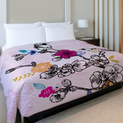 Midnight Bloom Duvet Cover Size: King