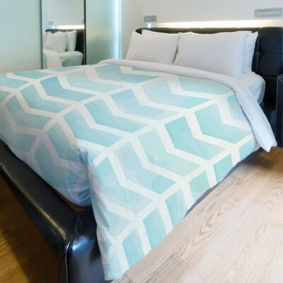 Waterfall Chevron Duvet Cover Size: King