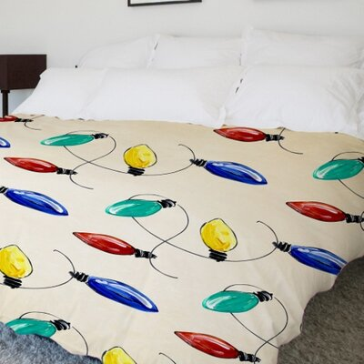 Christmas Lights Duvet Cover Size: King