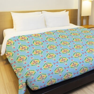 Sunshine Kaleidoscope Fleece Duvet Cover Size: Full / Queen