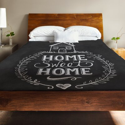 Home Sweet Home House Fleece Duvet Cover Size: Full / Queen