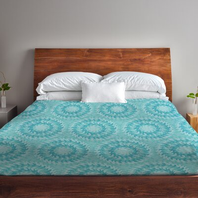 Swirls Fleece Duvet Cover Size: Full / Queen