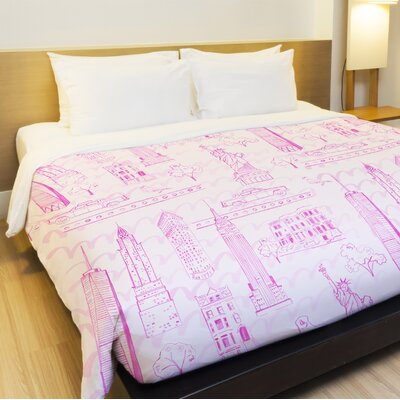 Love from NYC 20 Fleece Duvet Cover Size: King