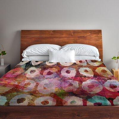 Hope Circles Fleece Duvet Cover Size: King