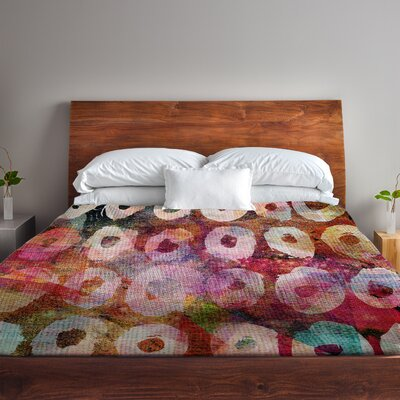 Hope Circles Fleece Duvet Cover Size: Full / Queen