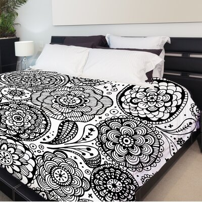 Emma Fleece Duvet Cover Size: King