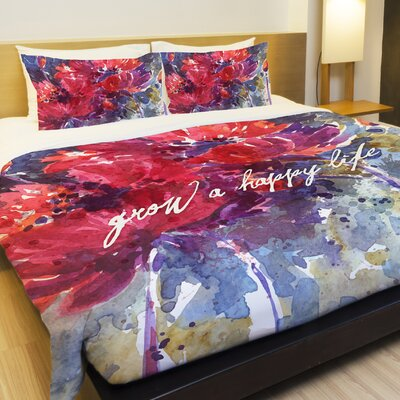 Grow a Happy Life Fleece Duvet Cover Size: King
