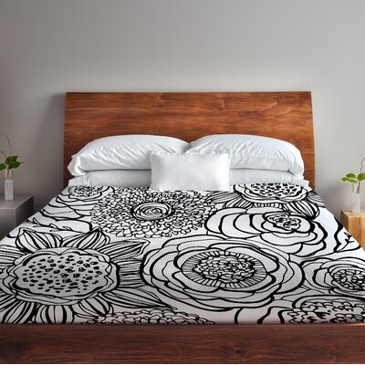 Primrose Fleece Duvet Cover Size: Full / Queen