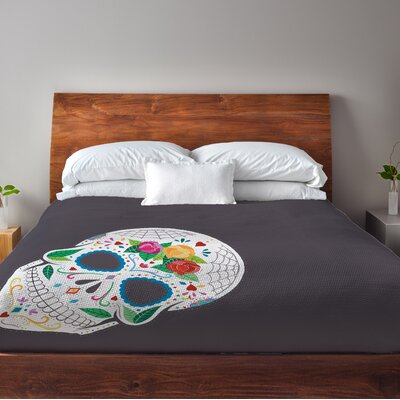 Calavera Fleece Duvet Cover Size: King