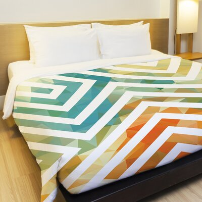 Mila Fleece Duvet Cover Size: Full / Queen