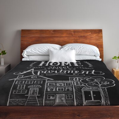 Home Sweet Apartment Fleece Duvet Cover Size: Full / Queen