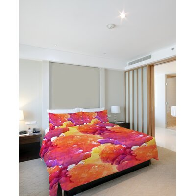 Neon Sunset Duvet Cover Size: King