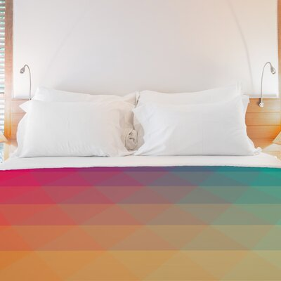 Rainbow Wave Fleece Duvet Cover Size: King