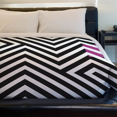 Stassi Geometric Fleece Duvet Cover Size: King