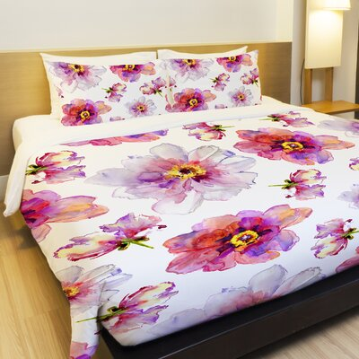Daisy Days Lightweight Duvet Cover Size: King