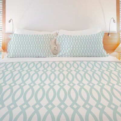 Minty Fresh Lightweight Duvet Cover Size: King