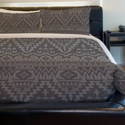 Tribal Zigzags Lightweight Duvet Cover Size: King