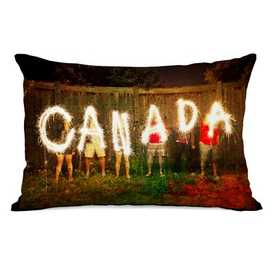 Canada Sparklers Fleece Lumbar Pillow