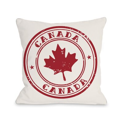 Canada Emblem Throw Pillow Size: 16 H x 16 W x 4 D
