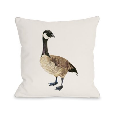 Canada Goose Throw Pillow Size: 16 H x 16 W x 4 D