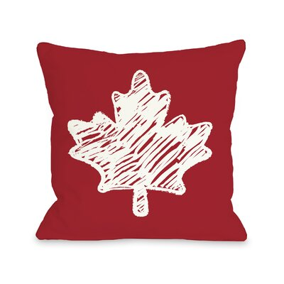 Maple Leaf Throw Pillow Size: 18 H x 18 W x 4