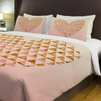 Ombriangle Hearts Full/Queen Duvet Cover