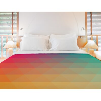 Rainbow Wave Multi Duvet Cover Size: Twin