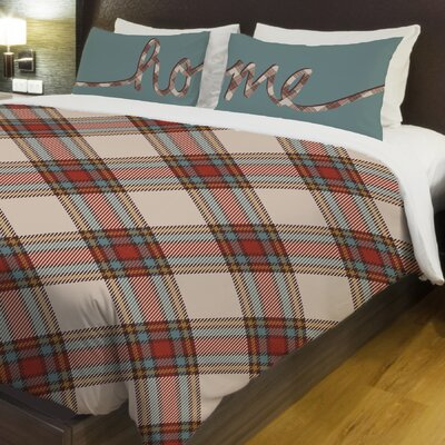 Plaid Fleece Duvet Cover Size: King