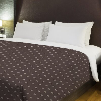 Dots Fleece Duvet Cover Size: Full / Queen