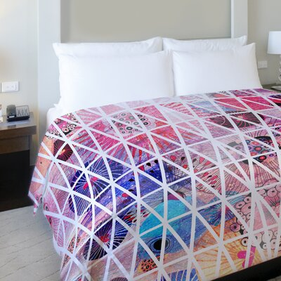 Nebula Fleece Duvet Cover Size: King