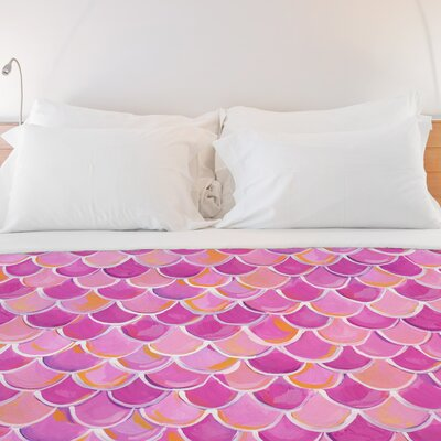 Love from NYC 13 Scale Fleece Duvet Cover Size: Full / Queen