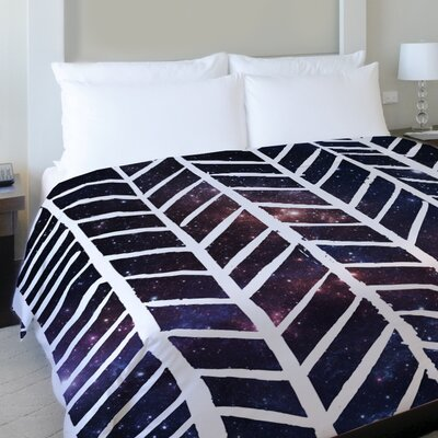 Beyond the Stars Fleece Duvet Cover Size: King