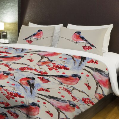 Bullfinch Fleece Duvet Cover Size: Full / Queen