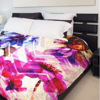 Wallflower Chevry Fleece Duvet Cover Size: King