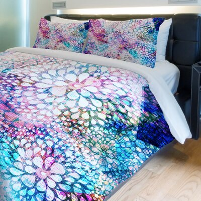 Sprinkles Fleece Duvet Cover Size: King