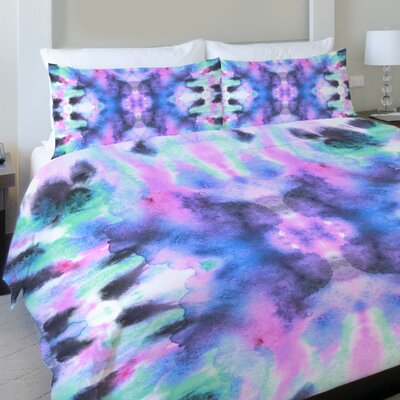 Abstract Ink Colors Lightweight Duvet Cover Size: Queen