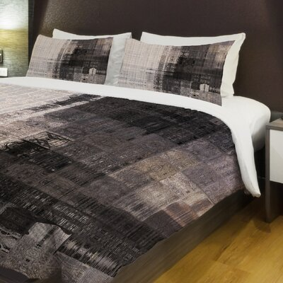 Tiled Monochrome Lightweight Duvet Cover Size: Queen