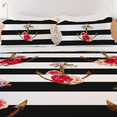 Anchors Away Lightweight Duvet Cover Size: Twin