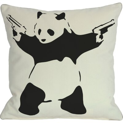 Panda Throw Pillow Size: 16 H x 16 W
