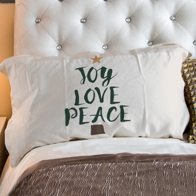 Joy Love Peace Tree Pillow Case