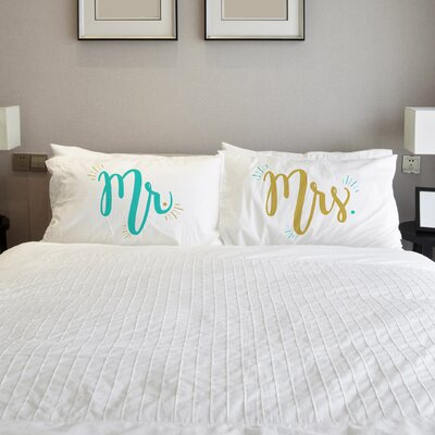 Better Together 2 Piece Mister Misses Pillow Case Set