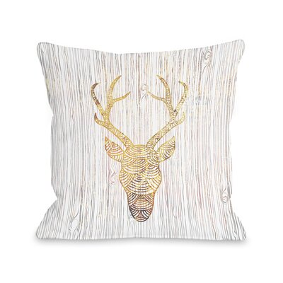 Reindeer Head Throw Pillow Size: 18 x 18