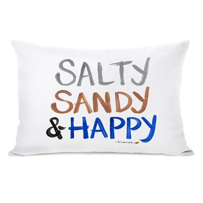Salty, Sandy & Happy by Timree Lumbar Pillow