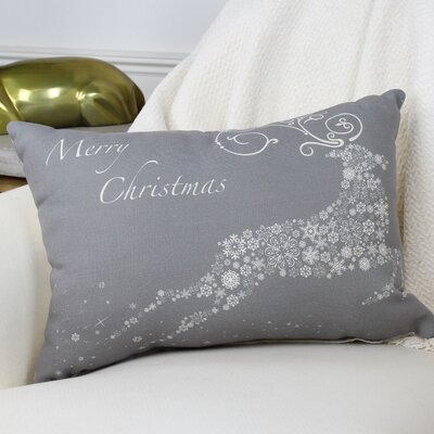 Cantor Snowflake Reindeer Lumbar Pillow Color: Grey