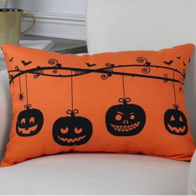 Pumpkins On A Branch Lumbar Pillow