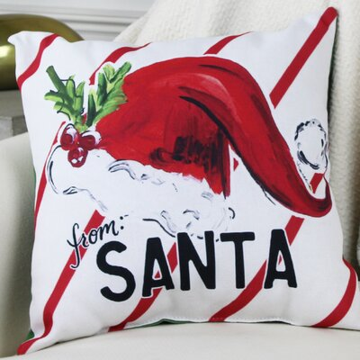 From Santa Hat Throw Pillow Size: 16 H x 16 W x 3 D