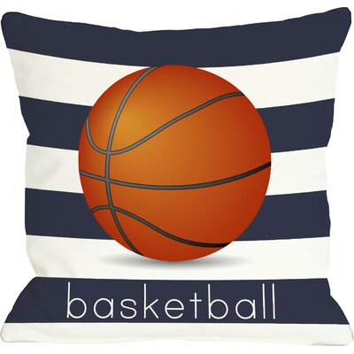 Basketball Throw Pillow Size: 18 H x 18 W