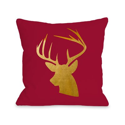 Buck Head Gold Foil Throw Pillow Size: 18 H x 18 W
